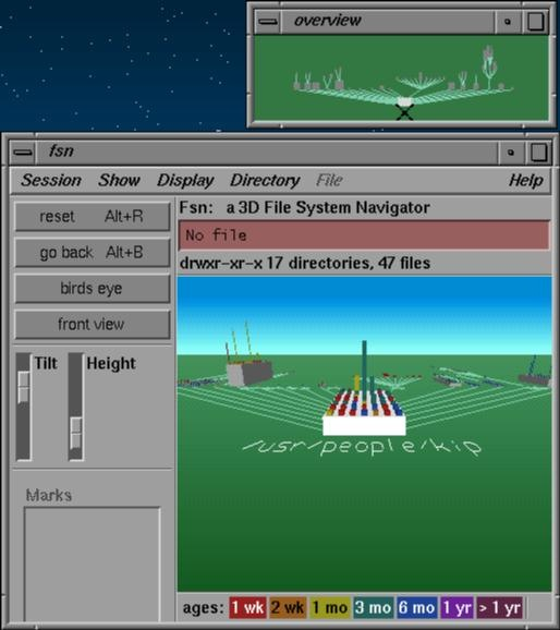 FSN 3D file system navigator Silicon Graphics SGI IRIX Jurassic Park